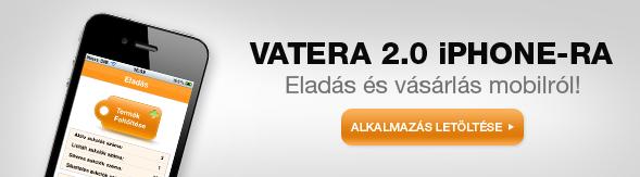Vatera 2.0 iPhone alkalmazás