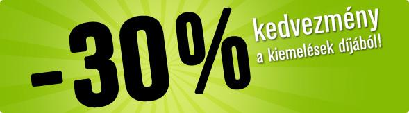 Vatera 30% kedvezmény